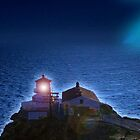 Point Reyes National Seashore Lighthouse at night, California by Rick Short