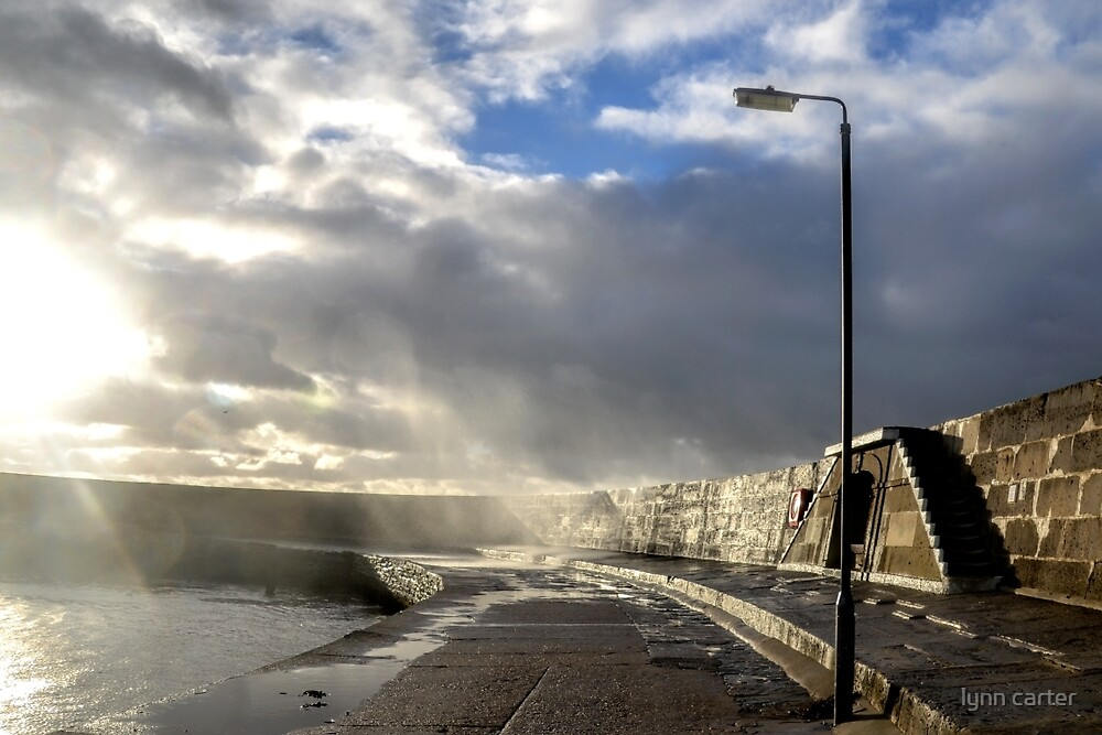 Harbour  Wall -Lyme Dorset.UK by lynn carter