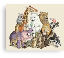Animals of the Zoo Canvas Print