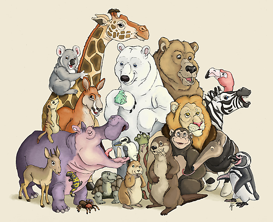 Animals of the Zoo by Aja Wells