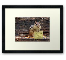Peanuts or Else! Framed Print
