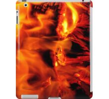 burning log fire iPad Case/Skin