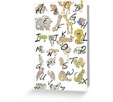 A-Z Greeting Card