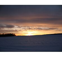Snowy Hillside Photographic Print