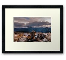 Mountain coffee  time Framed Print