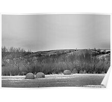 Winter Bales of The QU'APPELLE VALLEY Saskatchewan Poster