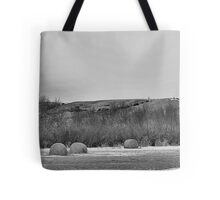 Winter Bales of The QU'APPELLE VALLEY Saskatchewan Tote Bag