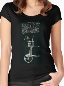 Let's Draw Sherlock The Reichenbach Fall Women's Fitted Scoop T-Shirt