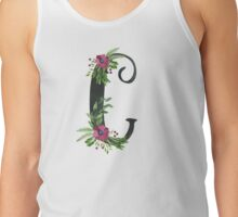 Monogram C with Floral Wreath Tank Top