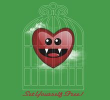 SET YOURSELF FREE (HEART) One Piece - Short Sleeve