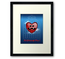 SET YOURSELF FREE (HEART) Framed Print