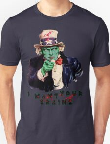 Uncle Sam Zombie (I Want Your Brains) T-Shirt