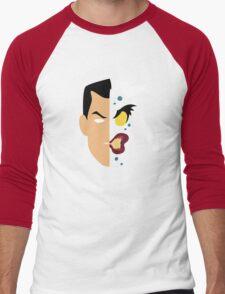 Harvey Dent Two Face Minimalistic Design Men's Baseball ¾ T-Shirt