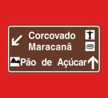 Corcovado/Maracana/Sugarloaf Mt, Rio de Janeiro Sign, Brazil by worldofsigns
