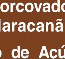 Corcovado/Maracana/Sugarloaf Mt, Rio de Janeiro Sign, Brazil Sticker
