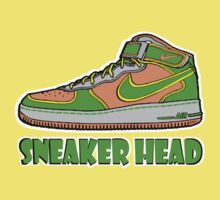 SNEAKER HEAD: GREEN ORANGE GREY AIR FORCE ONE MIDS Kids Clothes