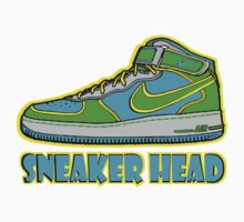 SNEAKER HEAD: GREEN|BLUE|YELLOW AIR FORCE ONE MIDS by S DOT SLAUGHTER