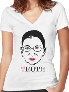 Ginsburg TRUTH Women's Fitted V-Neck T-Shirt