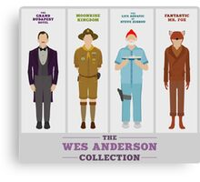 Wes Anderson Collection Canvas Print