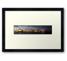 Sydney Harbour Bridge and Opera House SUNSET Framed Print