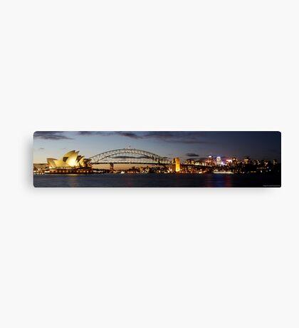 Sydney Harbour Bridge and Opera House SUNSET Canvas Print