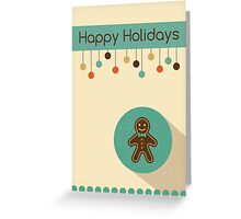 Cute Christmas Gingerbread Man Card Greeting Card