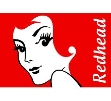 Miss Redhead (text) [iPhone / iPad / iPod case | Tshirt | Print] Photographic Print