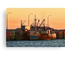 Rusty Ship, Rusty Sky Canvas Print