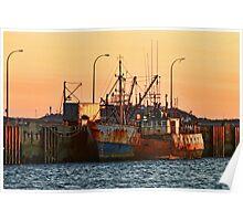 Rusty Ship, Rusty Sky Poster