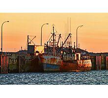 Rusty Ship, Rusty Sky Photographic Print