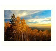 Sunset over the Sangre De Cristo Mountains Art Print