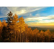 Sunset over the Sangre De Cristo Mountains Photographic Print