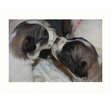 I wuv Yu - Pyr pups style Art Print