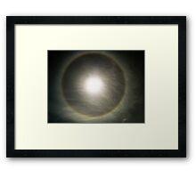 RAINBOW PHENOMENON - SUN HALO Framed Print