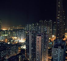 Hong Kong - Night Scape by Ashleigh McManus