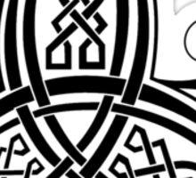 Fancy Trinity B - Knotwork - Black Sticker