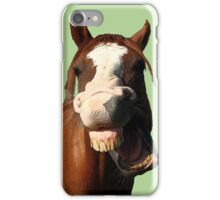 funny horse iPhone Case/Skin