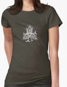 Fancy Trinity B - Knotwork - White Womens Fitted T-Shirt