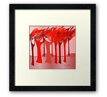 Redscape 2 Framed Print