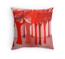 Redscape 2 Throw Pillow