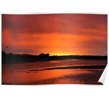 Estuary Sunrise Poster
