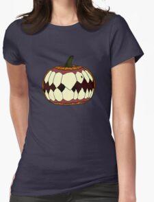 Beware of the pumpkin. Womens Fitted T-Shirt