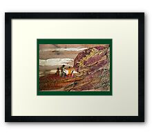 Family Walk on Hill Framed Print