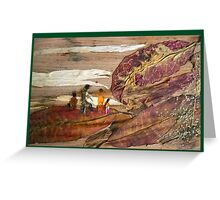Family Walk on Hill Greeting Card