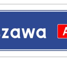 Warsaw Road Sign, Poland  Sticker