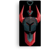 Low-Poly Black Knight Canvas Print