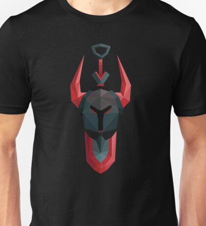 Low-Poly Black Knight Unisex T-Shirt
