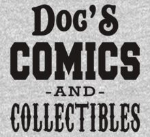 Doc's Comics and Collectibles White by waywardtees