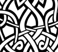 Bracer Knot A - Celtic Knotwork - Black Sticker