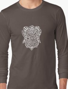 Bracer Knot A - Celtic Knotwork - White Long Sleeve T-Shirt